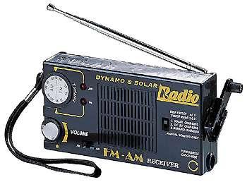 Solar radio mit kurbel